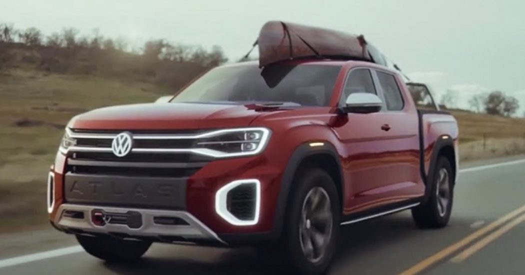 2019 Volkswagen Atlas Tanoak Pickup Truck News Design New Truck
